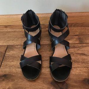 Material Girl Black Sandals
